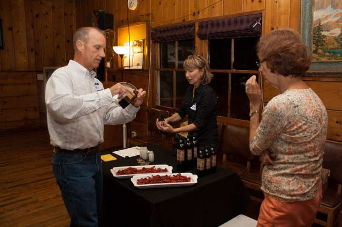 Our chapter was treated to an olive oil tasting of two different blends accompanied with roasted San Marzano tomatoes also from Michael's farm.