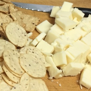 Gluten-free Rice Crackers and Raw Cheddar Cheese